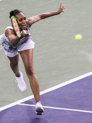Venus Williams of the United States of America plays