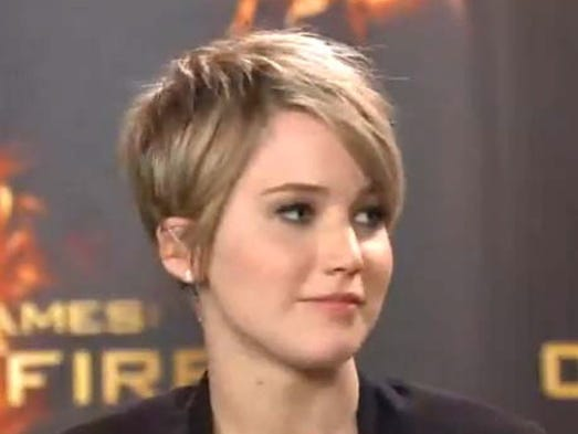 """So maybe it's not a trend sweeping the country, but it's at least interesting that suddenly, some high-profile stars are turning up with pixie haircuts. <br /> As 'Vanity Fair' reported, the pixie cut is sort of a rite of passage for female celebs. """"It's shocking; it captures the attention of the Internet for at least a week, usually longer; depending on your age and career trajectory, it can recast your persona entirely."""" The newly shorn join a band of longtime short-hair lovers who say they like the sleek, gamine look, the ease of care and the surprising versatility. Oscar winner Jennifer Lawrence was the latest to appear in public, explaining that she went for a chop because her long hair was """"fried"""" from being dyed too much. She appeared on a Google+ hangout panel about 'Hunger Games' this week."""