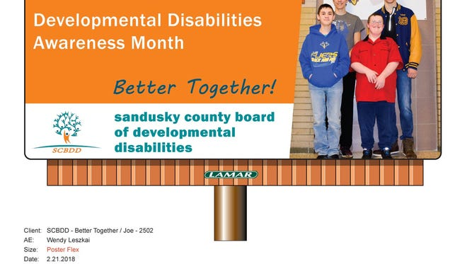 Billboards featuring area residents are raising awareness of developmental disabilities.