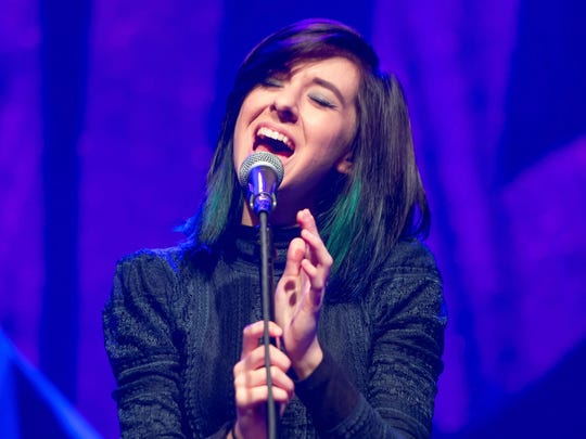 Christina Grimmie performs on stage at Center Stage