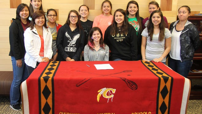 Cherokee senior Reagan Barnard has signed to play basketball for Converse College (S.C.).