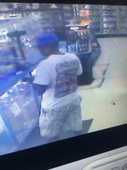 Clarksville Police released images of a robbery suspect