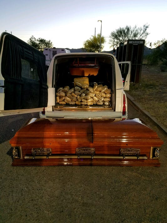 Hearse and Casket found with drugs
