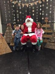 The children enjoyed visiting with Santa during Milanesi