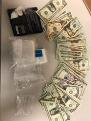 Simi Valley police said they seized methamphetamine and cash from suspected drug proceeds from a search warrant served Monday.