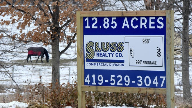 The signs near Raemelton Therapeutic Equestrian Center are for land unrelated to the farm, it is being sold for developmentby its owners.