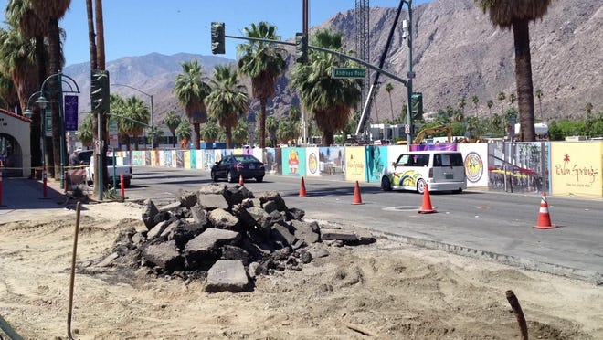 Work has begun on the Downtown Palm Springs revitalization project. Lane closures will take place on Palm Canyon Drive between Amado Road and Tahquitz Canyon Way through July 16.