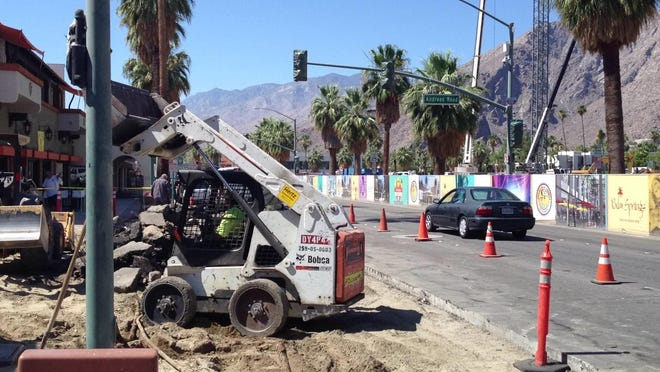 A downtown Palm Springs revitalization project will cause lane closures on Palm Canyon Drive, between Tahquitz Canyon Way and Amado Road. Work is scheduled through July 16.