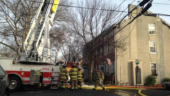 A fire broke out in a Burlington City home early Friday.