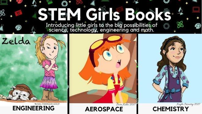 STEM Girls Books illustration used for Kickstarter campaign.