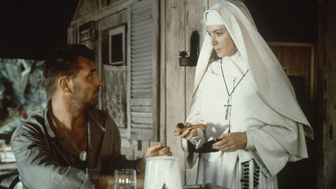 """Robert Mitchum and Deborah Kerr are stranded on an island together in """"Heaven Knows, Mr. Allison"""" (1957),"""" playing Friday at All Saints Cinema."""