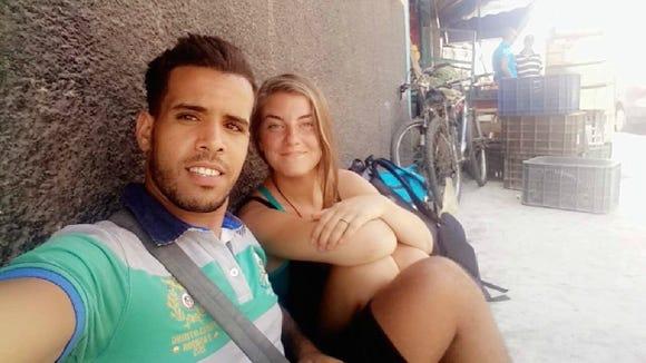 Soufiane El Yassami and Carly Harris in Casablanca. (Photo courtesy of Carly Harris)