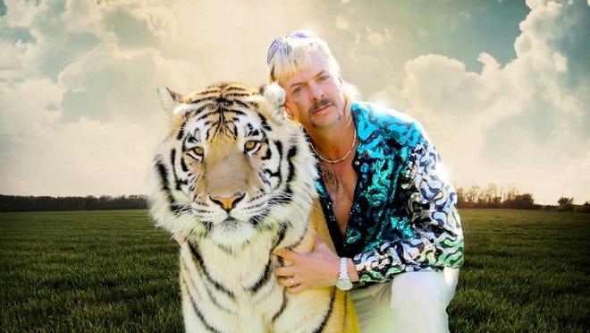 Promotional image for Netflix docu-series  Tiger King: Murder, Mayhem and Madness .