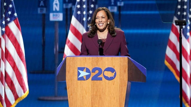 U.S. Sen. Kamala Harris, D-Calif., is the first woman of color to be a vice-presidential candidate on the Democratic ticket.
