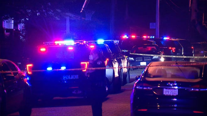 Police were on scene at two shootings overnight, one resulting in a double homicide.