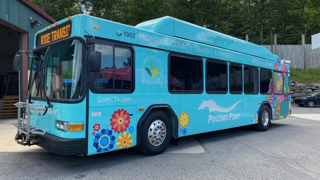 "Pocono Pony's new teal bus was given the name ""Shaquille O'Teal."""