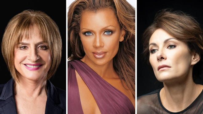 Patti LuPone, from left, Vanessa Williams and Laura Benanti are set for a series of livestream performances aired by Texas Performing Arts.