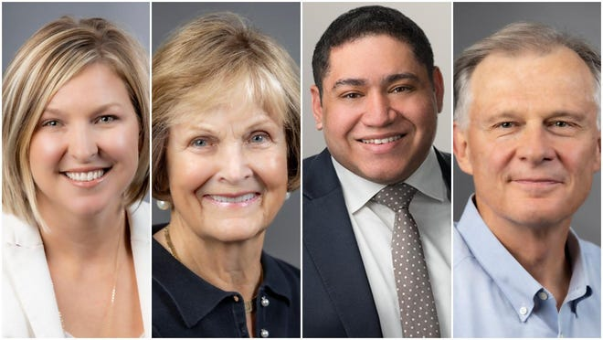 Sara Freitag of Lincoln, Bonnie Thompson of Lincoln and St. Simons Island, Georgia; Matthew Wissa of Chicago; and David Zwanzig of Morton were named new Lincoln College Trustees.