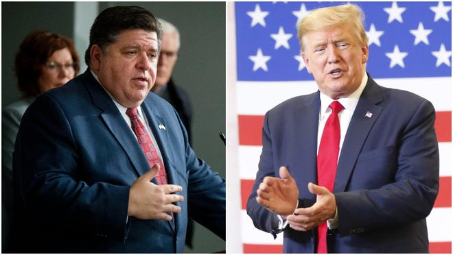 Illinois Gov. JB Pritzker on Monday during a call between the President and U.S. governors told Donald Trump that Trump's rhetoric is 'making it worse' as protests continue.