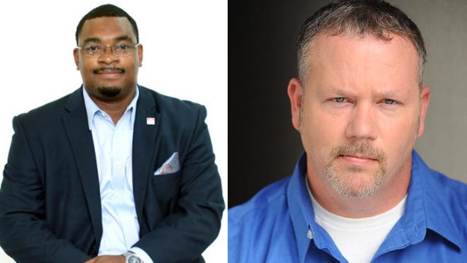 """Chatham County Commission District 6 candidates Aaron """"Adot"""" Whitely (left) and William Dyal."""