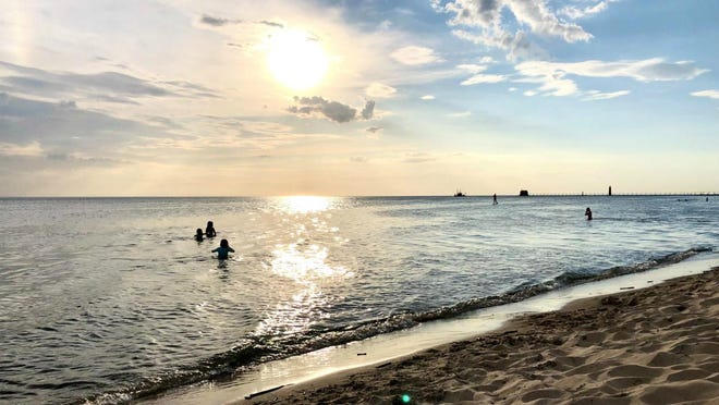 Grand Haven City Beach on May 26, 2020.
