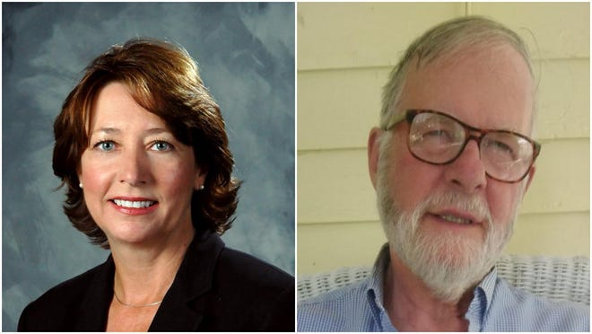 Incumbent Karen Banks (left), a Republican, is running for reelection as Ionia County District Three commissioner. She is challenged by Democrat Nelson Brown.