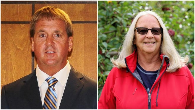 Incumbent David Hodges (left), a Republican, is running for reelection as Ionia County District One commissioner. He is challenged by Democrat Lynn Mason, who served as Ionia County District One commissioner from 2006-2014.