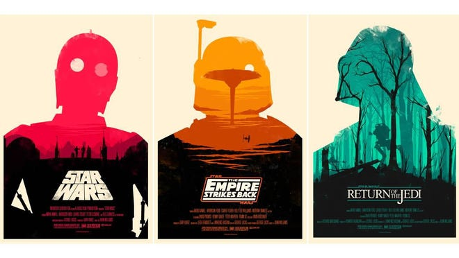 "Olly Moss' ""Star Wars"" designs are among the posters included in an upcoming Alamo Drafthouse auction."
