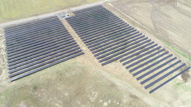 Solar farms like this1-megawatt sun farm in Arkansas operated by Woodruff Electric Cooperative will be coming to Kansas after the formation of the Kansas Cooperative Sun Power Program.