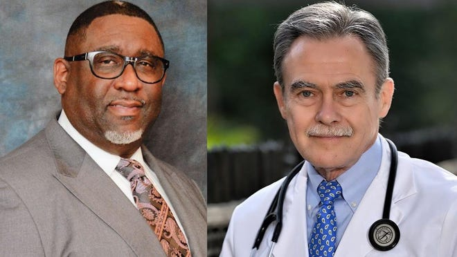 Chatham County Coroner candidates David Campbell (left) and Dr. Charles Pugh.
