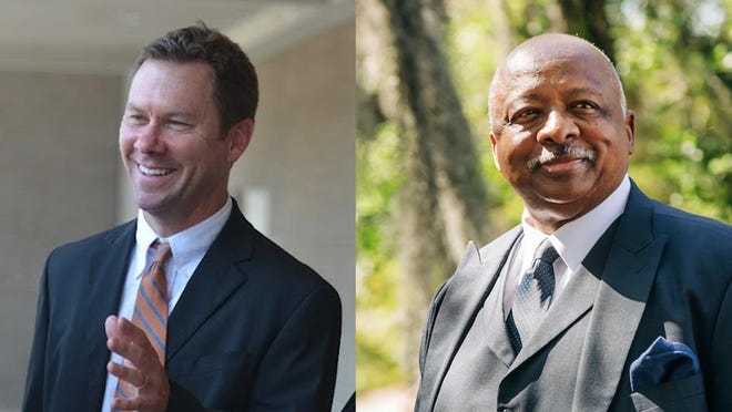 Chatham County Commission Chair candidates Jason Buelterman (left) and Chester Ellis.