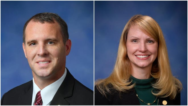 State Reps. Thomas Albert (left), R-Lowell, and Julie Calley, R-Portland, were each reelected to the state House of Representatives during the Nov. 3 general election. Albert represents the 86th House District, while Calley serves the 87th.