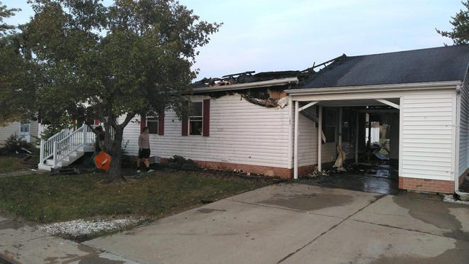 Fire destroyed a manufactured home in the Raisin Ridge subdivision Wednesday afternoon in Raisinville Township.