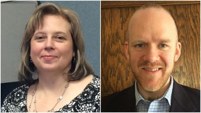 Rhonda Lake (left) and Will Wagner are running for Ionia County register of deeds in the Aug. 4 primary election.