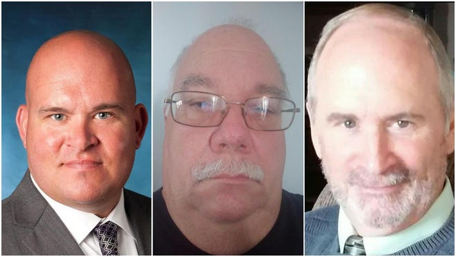 From left: Charlie Noll, Robert Rickert and Douglas Gurski are running for Ionia County sheriff in the Aug. 4 primary election. Noll is the incumbent sheriff.