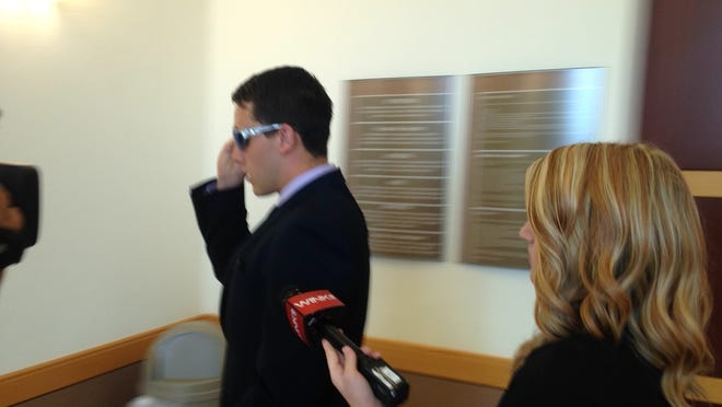 Joshua Sekulic leaves courtroom 7B after accepting a plea deal for sexual battery case in a case involving sexual assault and battery on the FGCU campus in 2013.