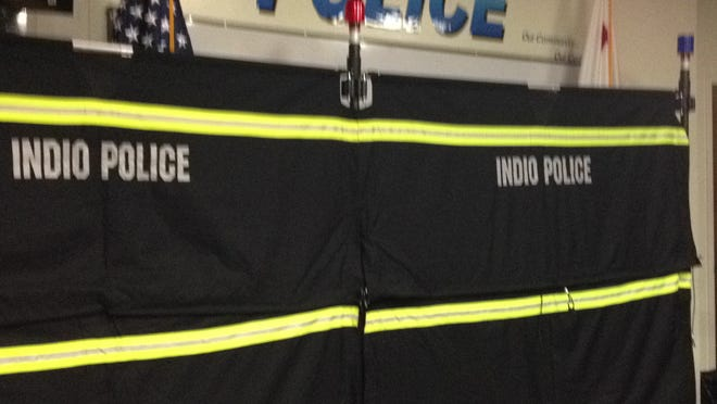 Indio police recently acquired a barrier that will protect crime scenes and victims from being seen by the passing public.