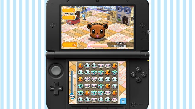 "Battle with cute pocket monsters Candy Crush-style with ""Pokemon Shuffle"" for the Nintendo 3DS."