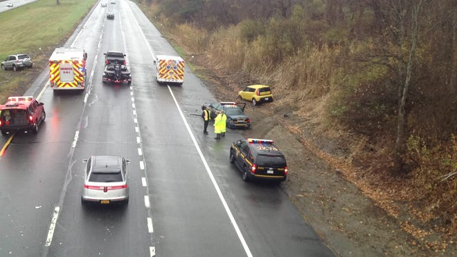 A New York State police cruiser was involved in a four-car accident on the eastbound side of Interstate 84 in Southeast Thursday, Nov. 6.