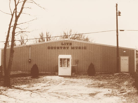 An undated photograph shows the original Presley family country music show theater on Highway 76 in Branson, Missouri.