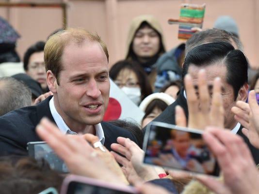 Prince William commemorates Japan tsunami victims