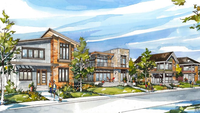 The $30 million South Village of Nickel Plate, if approved, would bring 60 homes starting at $400,000 to the Nickel Plate District in downtown Fishers.