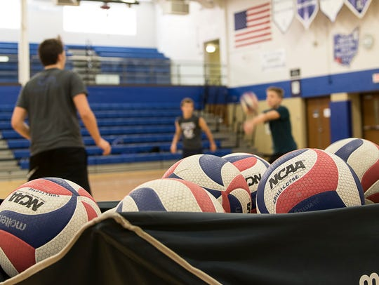 The balls used in boys volleyball are different compared