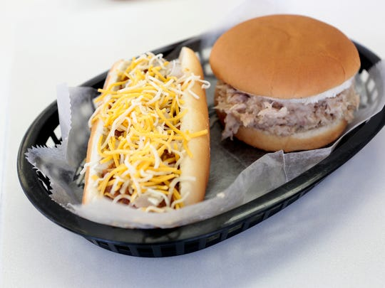 Mick's serves soft serve ice cream as well as sundaes, sandwiches and appetizers including coney dogs with their homemade coney sauce and shredded chicken sandwiches.