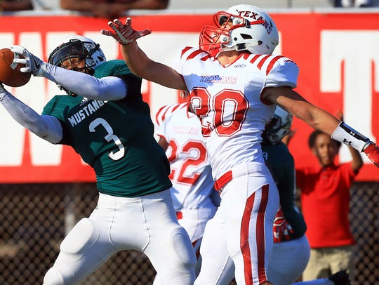 King's Jameel West catches the ball against Ray's Ryan