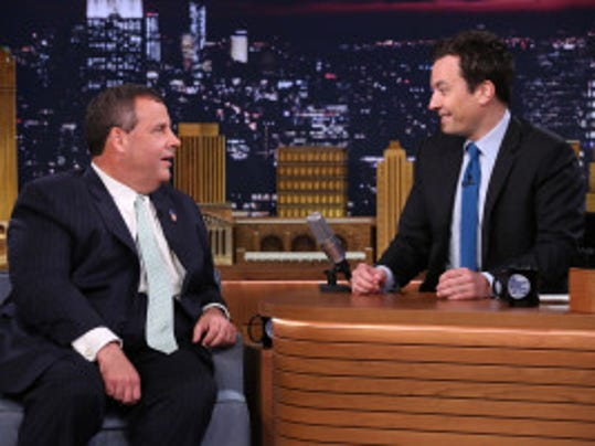Gov. Chris Christie interviewed by Jimmy Fallon on June 12, 2014. (Douglas Gorenstein/NBC)