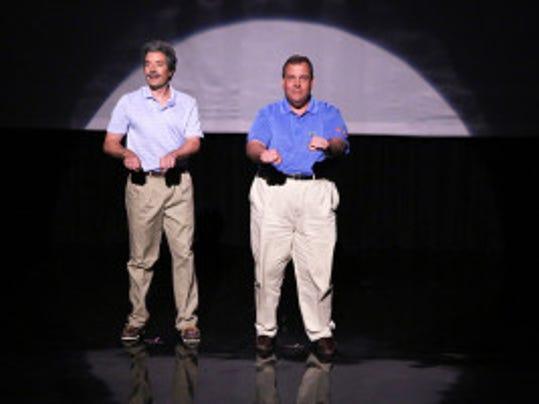 Host Jimmy Fallon and Gov. Chris Christie. (Photo by: Douglas Gorenstein/NBC)