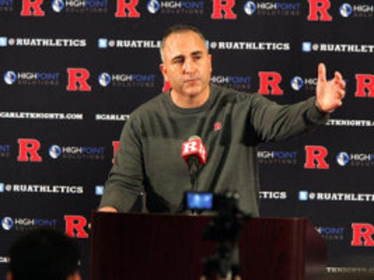 "June is a busy month of charity work for Rutgers coach Kyle Flood, who appeared at the Special Olympics Opening Ceremony and Eric LeGrand's ""Walk to Believe"" before hosting a charity golf event Monday. (MyCentralJersey.com file photo)"