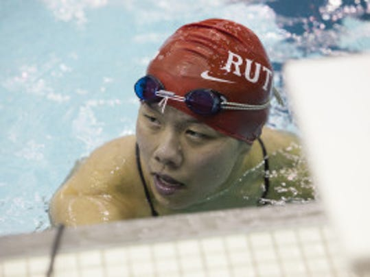 Joanna Wu competed in both the 100 meter and 200 meter backstroke at the NCAA Championships as a sophomore last season. (Courtesy of Rutgers athletics communications)