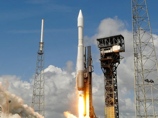 An Atlas V rocket lifts off from Complex 41 at Cape
